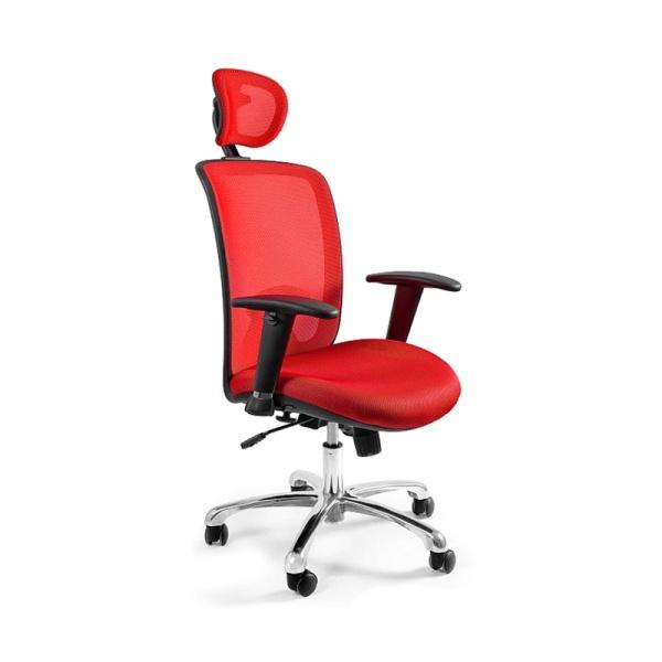 Fotel biurowy UNIQUE Expander czerwony W-94-2