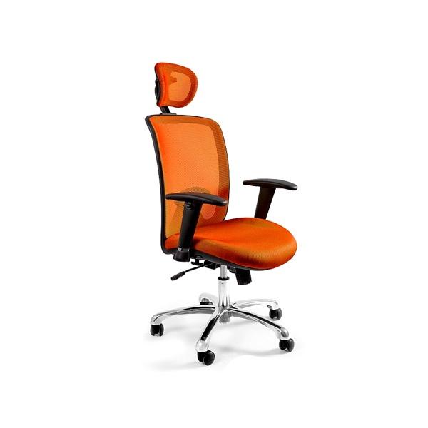 Fotel biurowy UNIQUE Expander pomarańczowy W-94-5