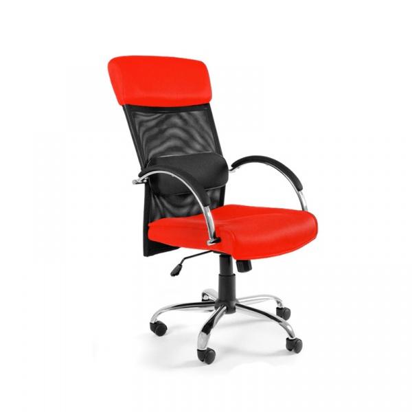 Fotel biurowy UNIQUE Overcross czerwony W-62-2