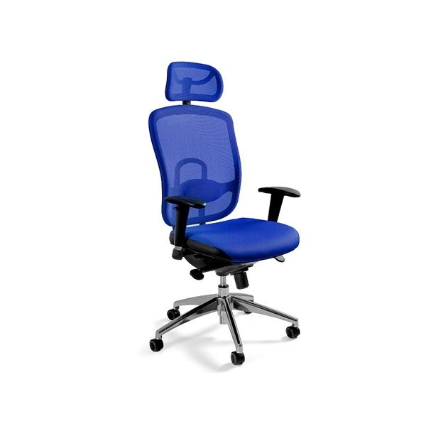 Fotel biurowy UNIQUE Vip niebieski W-80-7