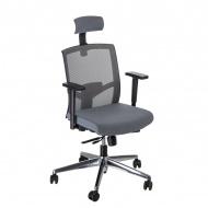 Fotel biurowy zagłówek 91x63x58 cm Maduu Studio Ergo szary