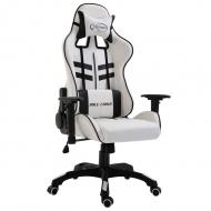 Fotel dla gracza, czarny, PU