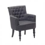 Fotel do salonu ciemnoszary tapicerowany Tredici