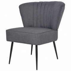 Fotel do salonu koktajlowy ciemnoszary