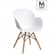 Fotel Flower Wood Modesto Design biały
