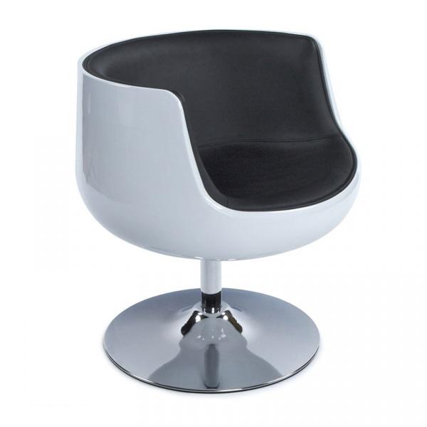 Fotel Harlow Kokoon Design biało-czarny AC00140WHBL