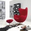 Fotel Jajo czerwony kaszmir #24 DK-18087