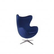 Fotel Jajo D2 szeroki tkanina niebieska