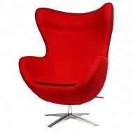 Fotel Jajo D2 z przeszyciem szeroki tkanina czerwona