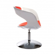 Fotel Kirk Kokoon Design biało-czerwony