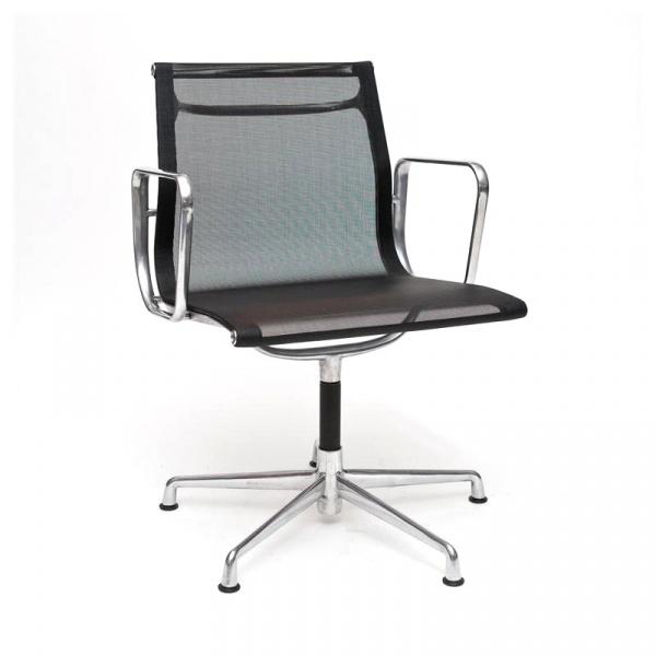 Fotel konf. CH1081T,czarna siateczka,chr DK-24971