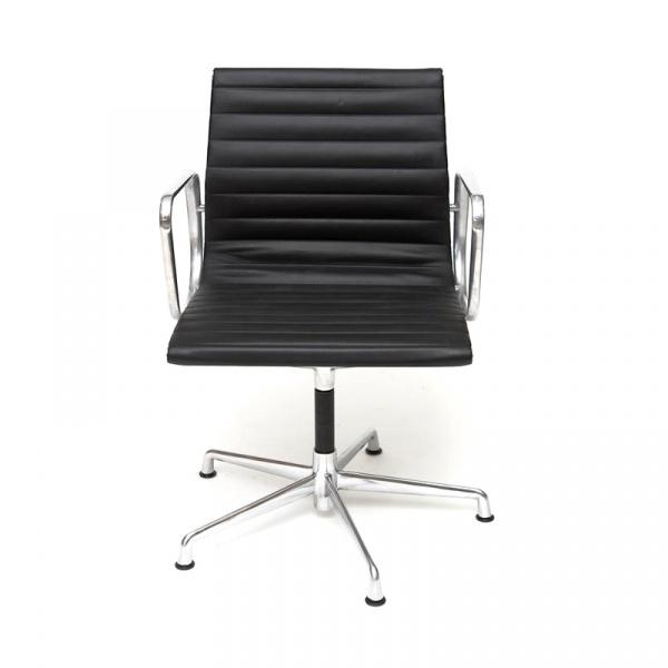 Fotel konf. CH1081T,czarna skóra ,chrom DK-27715