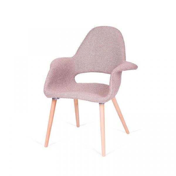 Fotel/krzesło King Bath Plush Arm zebra beżowo-biała RU-FPC-150KS-FC-032