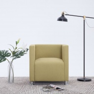 Fotel kubik, zielony, poliester