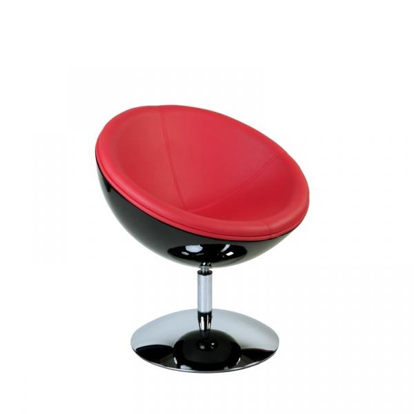 Fotel Mercury K-czarny, S-czerwone DK-27275