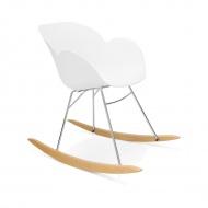 Fotel na płozach Knebel Kokoon Design biały