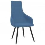 Fotel, niebieski, tapicerowany tkaniną