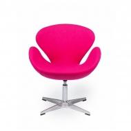 Fotel obrotowy 72x61,5x83cm King Home Swan różowy