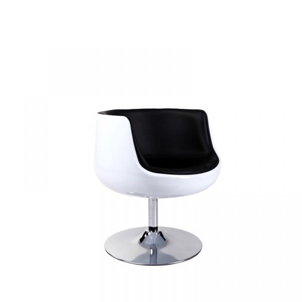 Fotel obrotowy Cognac D2 biało-czarny L 5902385702072