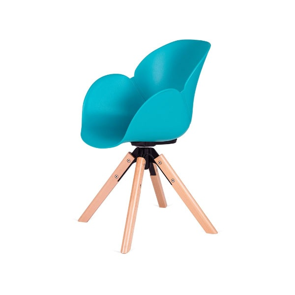 Fotel obrotowy Flower 360 King Home turkusowy SI-FL-03W.TURKUS