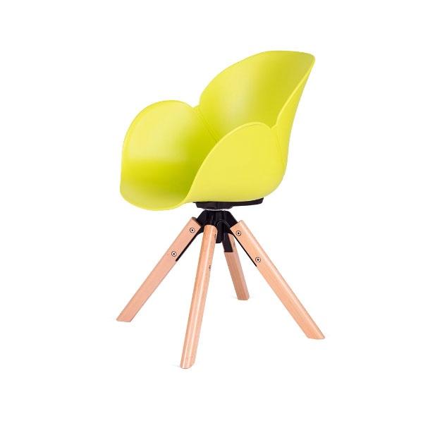 Fotel obrotowy Flower 360 King Home zielony FL-03W.ZIELONY