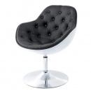 Fotel Pezzo pikowany K- biały, S-czarne