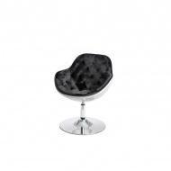 Fotel Pezzo Velvet D2 biały-czarny