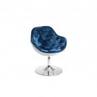 Fotel Pezzo Velvet D2 biały-niebieski
