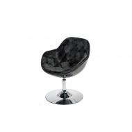 Fotel Pezzo Velvet D2 czarny-czarny