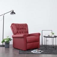 Fotel rozkładany, czerwone wino, sztuczna skóra