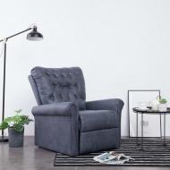 Fotel rozkładany, szary, sztuczna skóra zamszowa