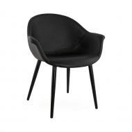 Fotel skórzany Melrose Kokoon Design czarny