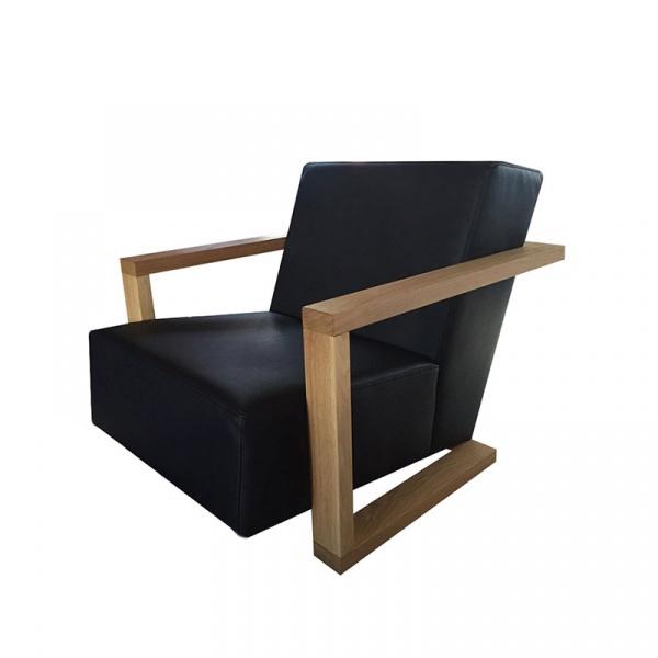 Fotel skórzany Moderno Quentin Design czarny QD-005