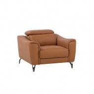 Fotel skórzany złoty brąz NARWIK