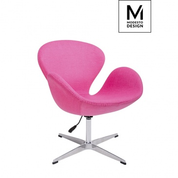 Fotel swan up modesto design różowy