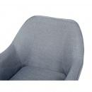 Fotel szary - wypoczynkowy - do salonu - tapicerowany - LOKEN