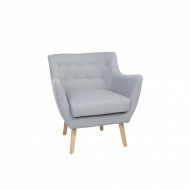 Fotel tapicerowany szary DRAMMEN