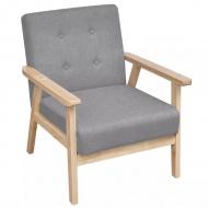 Fotel tapicerowany tkaniną, jasnoszary