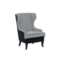 Fotel tapicerowany w pepitkę Grandinare