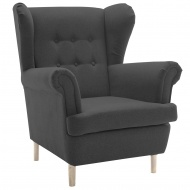 Fotel Uszak Neli Design ciemnoszary