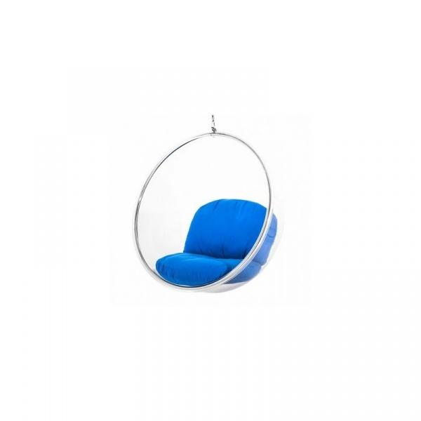 Fotel wiszący 103x63x103cm Quadre Bańka niebieski QAA028-05