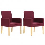 Fotele, 2 szt., kolor czerwonego wina, sztuczna skóra