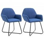 Fotele do salonu 2szt. niebieskie tapicerowane tkaniną