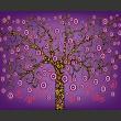 Fototapeta - abstrakcja: drzewo (fioletowy) A0-LFTNT0828