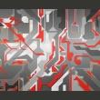 Fototapeta - Abstrakcyjne geometryczne ścieżki A0-LFTNT0864