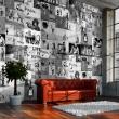 Fototapeta - Banksy - szary kolaż A0-WSR10m441