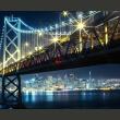 Fototapeta - Bay Bridge nocą A0-F4TNT0513