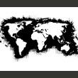 Fototapeta - Białe kontynenty, czarne oceany... A0-LFTNT0424