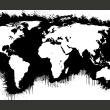 Fototapeta - Białe kontynenty, czarne oceany... A0-F5TNT0092-P
