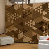 Fototapeta - Brązowy patchwork (50x1000 cm)